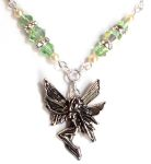 Sea Green Happiness Fairy Necklace