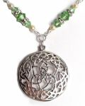 Sea Green Wheel Of Life Celtic Necklace
