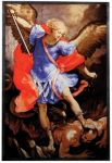 St. Michael Art Glass Panel