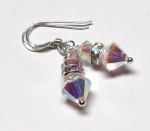 Sterling Silver Swarovski Crystal Earrings - AB
