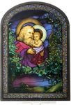 Christmas Eve Art Glass Panel