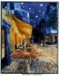 Art Glass Panel - Van Gogh - Cafe Terrace At Night