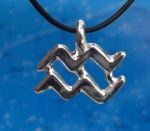 Aquarius Zodiac Jewelry Pendant -Jan 20 - Feb 18.