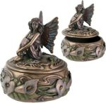 Art Nouveau Calla Lily Fairy Jewelry Box