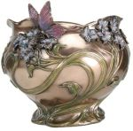 Art Deco Home Decor - Art Nouveau - Blue Flower Bowl