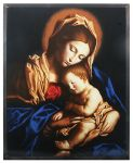 Art Glass Madonna and Child