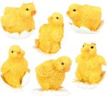 Baby Chicks Figurine Statues (Set of 6)