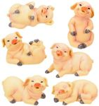 Baby Pigs - Set Of 6 Figurine Statues