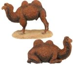 Bactrian Double Hump Camel Figurine Statues (Set of 2)