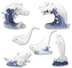 Beluga Whales - Set Of 6 Figurine Statues