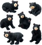 Black Bears Figurines (Set of 6)