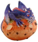 Blue Dragon Hatching Figurine Statue