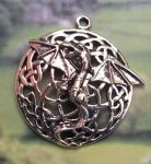 Celtic Bat Dragon Jewelry Pendant