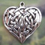 Celtic Devoted Love Heart Jewelry Pendant
