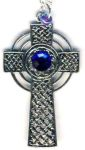 Celtic Gothic Cross Necklace With Crystal