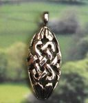 Celtic Knot Oval Jewelry Pendant