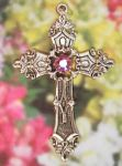 Celtic Renaissance Cross Necklace With Crystal