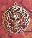 Celtic Spider Skull Jewelry Pendant