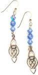 Celtic Two Lives Entwined Earrings with Crystals