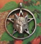 Celtic Wolf Pentacle Jewelry Pendant