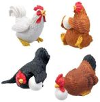 Chickens - Set Of 4 Figurine Statues