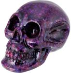 Amethyst Resin Crystal Skull