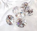Cubic Zirconia Faceted Gemstone