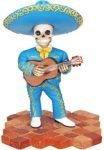 Mariachi Band Skeleton Guitar Player - Blue