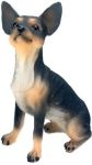Dog Breed Statues - Black Chihuahua - Small