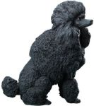 Dog Breed Statues Black Standard Poodle Dog Figurine Statue