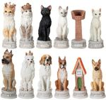 Large 4 Inch Dog Vs. Cat Chess Set