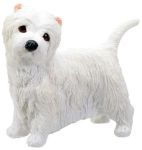 Dog Breed Statues West Highland Terrier Puppy Dog Figurine Statue