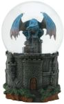 Dragon Castle Water Globe Statue