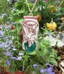 Egyptian Goddess Hathor Gem Pendant