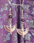 Egyptian Jewelry Amethyst Isis Earrings