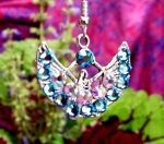 Aqua Swarovksi Crystal Egyptian Isis Earrings