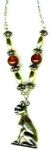 Bast Gemstone Egyptian Necklace