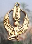 Kneeling Egyptian Goddess Isis Pendant
