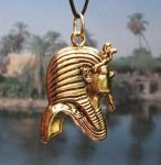 Large Egyptian King Tut Profile Pendant