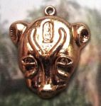 Large Egyptian Lion Goddess Sekhmet Head Pendant