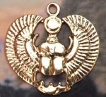 Egyptian Lovers Scarab Pendant