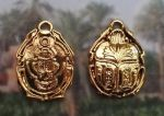 Ornate Double-Sided Egyptian Scarab Pendant