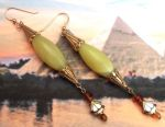 Egyptian Jewelry Royal Amarna Serpentine Earrings