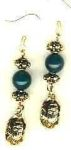 Egyptian Scarab Gemstone Earrings