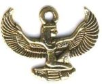 Small Kneeling Egyptian Goddess Isis Pendant