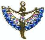 Egyptian Jewelry Spread Winged Isis Egyptian Necklace With Crystals