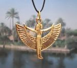Egyptian Jewelry Standing Winged Isis Jewelry Pendant
