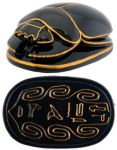 Ancient Egyptian Black Egyptian Scarab Paperweight