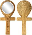 Ancient Egyptian Djed Ankh Mirror