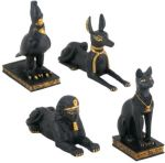 Ancient Egypt - Egyptian Animals (set Of 4) Statue